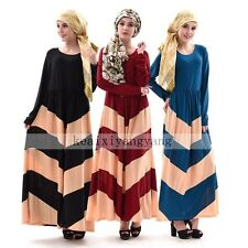 Muslim Middle East Turkish Abaya Dress Islamic Long Dress kaftan Arab Maxi Dress