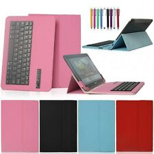 """Universal Bluetooth Keyboard Stand Leather Case For Samsung Galaxy 7"""" 10"""" Tablet"""