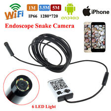 Waterproof HD Android iPhone Endoscope Borescope Snake Inspection Camera Scope