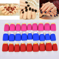 24PCS Matte False Full Finger Nails Manicure Nails Fake Nails Art Decor JS