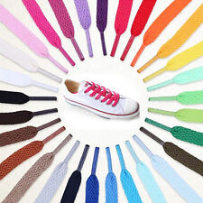 New Flat 1Pair Athletic 51 Inch  Shoelaces Sneaker Boots Shoe Strings 20 Colors