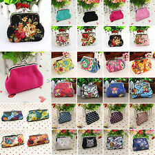 Women Small Change Wallet Purse Portable Hasp Clutch Holder Handbag Coin Key Bag