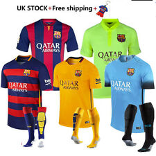 14/15/16 Football Short Club Sleeve Messi Home/Away Kit For 2-13 Ys With Socks