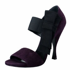Prada Women's Purple Suede Leather Open Toe High Heel Pumps Shoes Sz 6 8.5 9