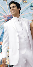 40S White Perry Ellis Tuxedo Suit Clearance Package Discount Winter Formal Tux