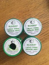 4x Summit 500g Lead Free Soldering Wire for soldering copper pipe