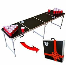 Portable Beer Pong Table Drinking Games Home Parties Tail Gating Ping Pong Balls