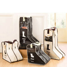 Fashion Non-Woven Fabric Home Shoe Long Boots Storage Bag Container