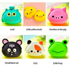 Cute Women Girl Small Change Purse Cartoon Animal Silicone Jelly Coin Bag Wallet
