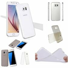 0.2mm ULTRA THIN CLEAR Rubber GEL Soft Cover Case Skin For Samsung Galaxy Models