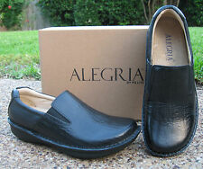 NEW Mens Alegria Oz Black Wave Leather Loafer Comfort Shoes Retail $139.95