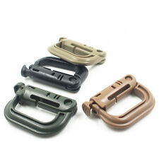 1PC / 5PCS Grimloc D-ring Molle Locking Clip Webbing Buckle Carabiner Backpack