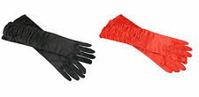 """Long Temptress ruched Gloves Elbow Length Fancy Dress Accessory 45cm 18"""""""