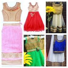 New Childrens Kids Girl Lehenga Saree Anarkali Dress Indian Ethnic Wedding Party