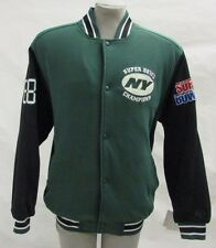 New York Jets Men's Large Snap-Up Super Bowl Champions Heavy Cloth Jacket NFL A5