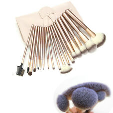 12/18/24Pcs Deluxe Soft Makeup Brushes Set Kit Cosmetic Tool PU Leather Bag Case