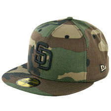 New Era 59Fifty San Diego Padres Fitted Hat (Woodland Camouflage/Black) MLB Cap