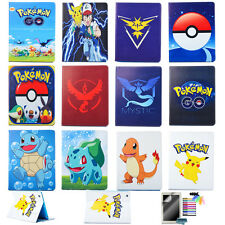 Pokemon Cartoon Case for Apple iPad Mini Air 234PU Leather Stand Flip Cover Skin