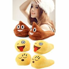 Emoji Plush Stuffed Unisex Home Slippers Cartoon Indoor Home Slipper Shoes Lot