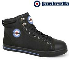 MENS LAMBRETTA LEATHER SAFETY BOOTS WORK RETRO HIKING STEEL TOE CAP SHOES SIZE