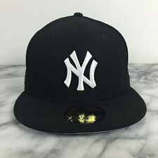 New York Yankees Black on White fashion Hats New Era 59Fifty Fitted Caps