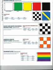 RACING FLAG SET, CHECKERED RACING FLAGS, AIRFIELD VEHICLE SAFETY FLAGS (NEW)