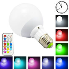 Dimmable 10W RGBW Color Changing E27 Led Globe Light Bulb With Timing Function e