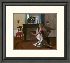 'Interior with a Woman in a Shirt' by Felix Vallotton Framed Painting Print