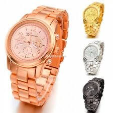 HOT Mens Womens Stainless Steel Quartz Sport Army Wrist Watch 4 colors EN24H