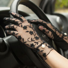 Korean Style Women's Slip UV-proof Long Gloves Lace Thin Cycling Driving Gloves