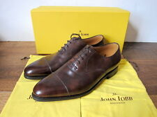 *NEW* JOHN LOBB CITY II DARK BROWN MUSEUM CALF OXFORD SHOES $1340 (7.5 10.5EE)