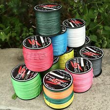 Multi-Color White Fluorescent Green 4 Strands PE Braided Dyneema Fishing Line