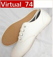 Fred Perry Wardour Twill Plimsolls Pumps Casual Shoe White Size 6 & 6.5 - Boxed