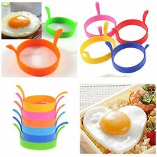 New Silicone Round Omelette Fry Egg Ring Pancake Poach Mold Kitchen Cooking Tool