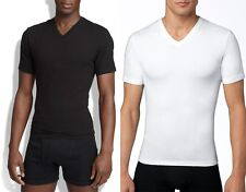 NEW SPANX MEN'S FIRM CHEST VNECK STRETCH COTTON COMPRESSION TEE SHIRT T-SHIRT