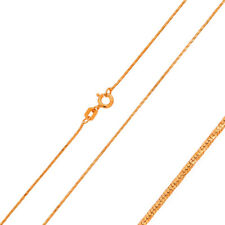 0.8mm 925 Sterling Silver Snake Chain Necklace / Rose Gold Plated made in italy