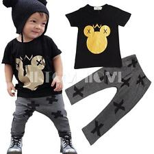 Boy Kid 2PCS Mickey Cartoon Top Shirt Pants Trousers Clothes Baby Outfit Set New