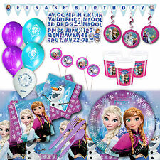 Disney's FROZEN Deluxe Birthday Party Pack Kit 16 Guests Decorations Tableware
