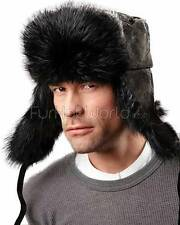 The Black Beaver Russian Trooper Hat -Brand: FRR -Made in Canada