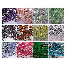 HOT1440pcs 2/3/4/5/6mm Faceted Crystal Rhinestone Half Round Flatback Beads QE