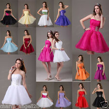 Short Strapless Organza Prom Cocktail Dress Ball Party Dresses Homecoming Gowns