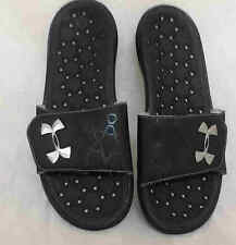 New! Mens Under Armour PLAYMAKER III Slide Slip-on Sandals Black 1235585 C65