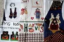 Choice: Fall & Halloween Vest Fabric Panel - Witch, Pumpkin, Scarecrow, Leaves