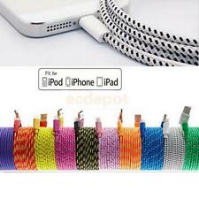 Braided USB Charger Cable Data Sync Cord For iPhone 6 6s Plus 5 5c 3/6/10 ft