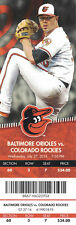 DAVID DAHL COLORADO ROCKIES FIRST HR TICKET STUB VS BALTIMORE ORIOLES 7/27/2016