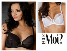 Pour Moi Promise Semi Sheer Non Padded Bra 5502 Black, White or Slate * New