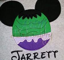 Personalized Hulk Mousehead T-shirt machine embroidered Version 2