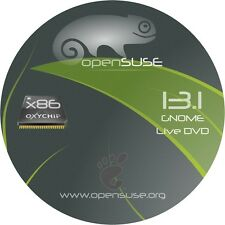 Stable Release open SUSE 13.1 - 32 or 64 Bit BOOTABLE DVD Linux OS .