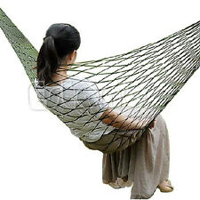 Travel Camping Hammock Hanging  Sleeping Bed Nylon Portable Outdoor Mesh Swing