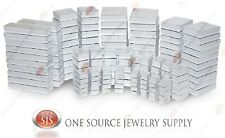 White View Top Clear Top Cotton Filled Jewelry Gift Boxes Box Lots 12-25-50-100